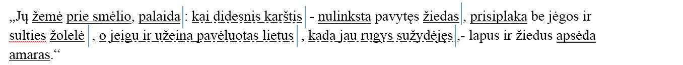 misrusis sakinys su vyraujanciu rysiu